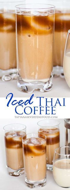 Iced Vanilla Thai Coffee Tatyanas Everyday Food - Ahh Summer The Best Time Of The Year Filled With Backyard Barbecues Trips To The Beach And Warm Weather This Iced Vanilla Flavored Thai Coffee Is The Perfect Summer Time Drink Its Creamy Thai Coffee, Easy Coffee, Coffee Drinks, Coffee Coffee, Coffee Beans, Coffee Shops, Coffee Jelly, Espresso Drinks, Coffee Cream