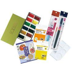 Kuretake Watercolor Handmade Postcard Kit Free Shipping from Japan #Kuretake