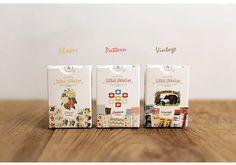 3 packs of sticker - Flower & Pattern & Vintage (96 sheet x 3 packs = 288 sheet)