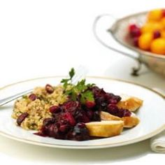 Bulgur Stuffing with Dried Cranberries & Hazelnuts - Bulgur is a healthy, whole grain that makes a great twist on traditional stuffing