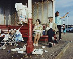 New Brighton, Merseyside  photo by Martin Parr; Last Resort series, 1985