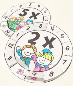 Multiplication Wheels Interactive Fun for Times Tables: