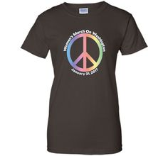Support The Women's March On Washington, DC Peace Sign Shirt
