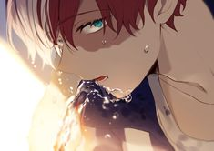 Anime: My Hero Academia My Hero Academia Shouto, My Hero Academia Episodes, Hero Academia Characters, Hero Wallpaper, Cute Anime Wallpaper, Garçon Anime Hot, Bakugou And Uraraka, Anime Boyfriend, Handsome Anime