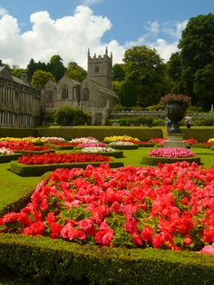 Lanhydrock Looking towards St Hydroc church.