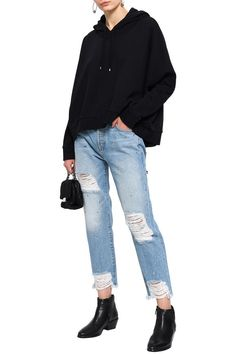 Shop on-sale French cotton-terry hooded sweatshirt. Browse other discount designer Long Sleeved Top & more luxury fashion pieces at THE OUTNET Discount Designer, Hooded Sweatshirts, Long Sleeve Tops, Mom Jeans, Luxury Fashion, French, Winter, Cotton, Pants