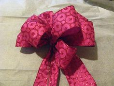 sale Christmas hand tied bow by betsstuff on Etsy, $10.00