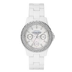 Michael Kors Ladies' Glitz Mini Madison Watch In White - Beyond the Rack