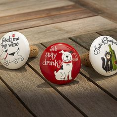 Pet Party Collection Ceramic Bottle Stopper Gift Idea F Dog Lovers Cat Lovers | eBay