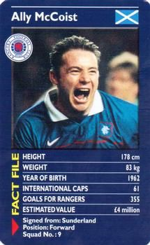 2001 Top Trumps Rangers #NNO Ally McCoist Front Rangers Football, Rangers Fc, Football Players, Trump Card, Football Tops, Top Trumps, Trading Card Database, Sports Stars, Sunderland