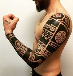 Maori Arm Tattoo Design