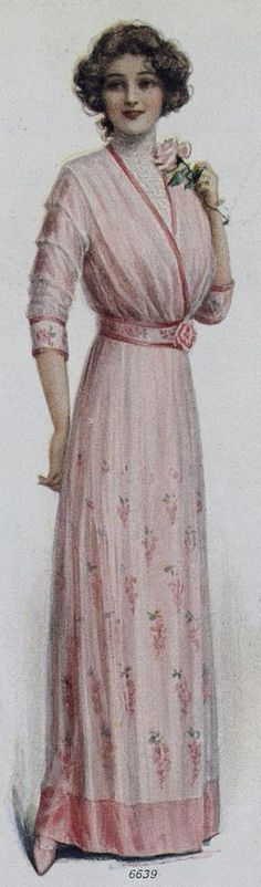 1912 fashion plate | Love the more fitted bodice. Some dresses in this era can be a bit too full in front to be flattering on my body. WANT THIS LOOK!