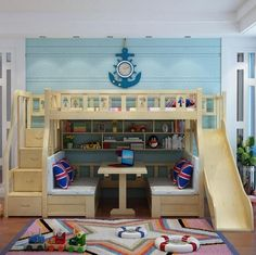"""Awesome """"bunk bed designs for teens"""" detail is available on our site. Check it o… Awesome """"bunk bed designs for teens"""" detail is available on our site. Check it out and you wont be sorry you did. Wood Bunk Beds, Modern Bunk Beds, Bunk Beds With Stairs, Kids Bunk Beds, Kids Beds For Boys, Kids Beds Diy, Boys Bunk Bed Room Ideas, Lofted Beds, Kids Bedroom Boys"""
