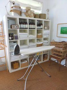 laundry room organized shelves : father rabbit