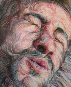 Amazing Art by Nikos Gyftakis self portraits energetic paintings1