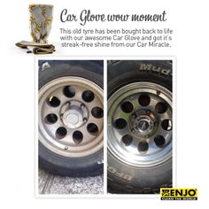 Car Glove & Car Miracle ENJO Wow Moment performed on a car tire