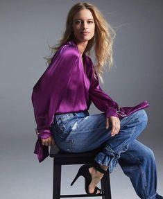 Jeans, Style, Fashion, European Fashion, Hair Bows, Fall Winter, Shirts, Trends, Swag