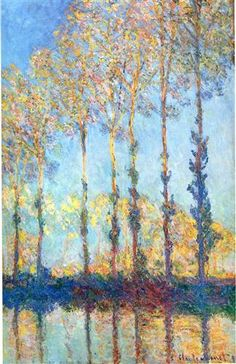 Poplars on the Banks of the Epte by Claude Monet, c1891