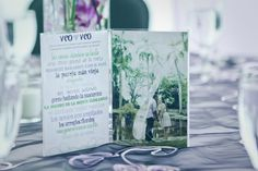 The Boa's used their engagement pictures as their table numbers and had their guests play I spy in Spanish during the reception #tablenumbers #ISpy *Photo by Keli Art Photography