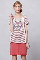 Embroidered Ikat Tee - Anthropologie.com