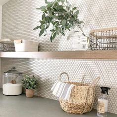 9 clever ways to cost-effectively upgrade your laundry room, # upgrade . - 9 clever ways to inexpensively upgrade your laundry room, # upgrade # cost - Laundry Room Tile, Laundry Decor, Room Tiles, Bathroom Wall Tiles, Bathroom Ceilings, Ikea Laundry, Laundry Shelves, Modern Laundry Rooms, Laundry Room Design