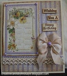 Creative Cards by Lindsaye: Wishing You a Happy Birthday - Graphic 45 'Secret Garden'