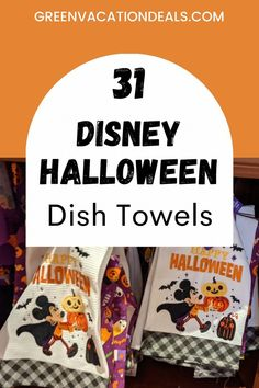 Now that Halloween is approaching, why not celebrate by getting a Disney & Halloween-themed kitchen towel? Dish towels are a great way to get excited for a September or October trip to Disney World or Disneyland - and a fun way to bring the parks to your home! Use this list of the 31 best Disney Halloween dish towels, themed to Haunted Mansion, Hocus Pocus, Mickey & Minnie, Nightmare Before Christmas & more. Halloween Dishes, Halloween Kitchen, Walt Disney World Vacations, Disney Resorts, Disney Halloween, Halloween Themes, Disney World With Toddlers, Disney Dishes, Disney World Planning