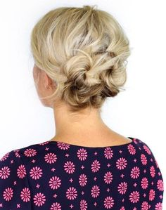 knotted updo for short hair