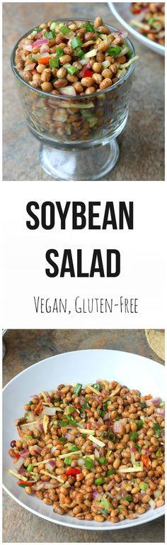Soybean Salad {Bhatmas Sadeko} - Vegan, Gluten-Free Nepali Appetizer.