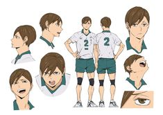 Character Poses, Character Design References, Character Art, Character Reference Sheet, Character Sheet, Haikyuu Fanart, Haikyuu Anime, Haikyuu Characters, Anime Characters
