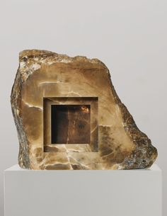 ANISH KAPOOR B. 1954 UNTITLED alabaster 32 x 41 x 15 in. Executed in 2005.