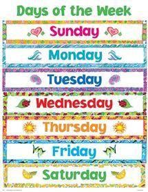 giorni della settimana in inglese - Cerca con Google