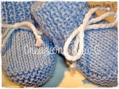 Creations Rita C. … Only Handmade !: Tutorial in Italian S … – Shoes World Knitted Booties, Knit Shoes, Baby Booties, Shoes World, Baby Boy Shoes, Baby Knitting Patterns, Cool Baby Stuff, Knitting Socks, Crochet Baby