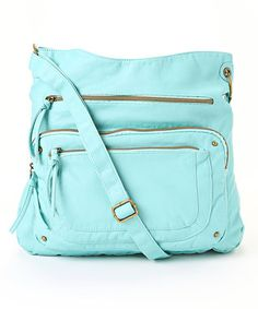 Aqua Pocket Crossbody Bag