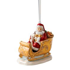 Annual Santa In Sleigh Ornament