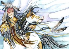 Native American Painted Ponies | native-american-southwest-native-american-rider-69.jpg