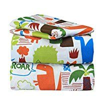 Dor Extreme Super Soft Luxury Twin Dinosaur Jungle Bed Sheet Set in 8 Different Prints, 3 Piece