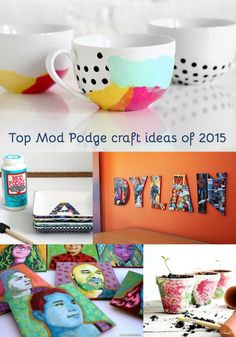 Have a jar of Mod Podge and aren't sure what to do with it? These top 10 Mod Podge craft ideas of 2015 are the perfect place to start!