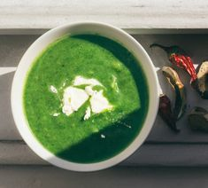 5 minute power greens soup - loaded with superfoods! May we suggest a dash of Skoop A-Game?