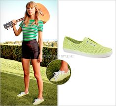 Keds ads | Spring 2014 Keds 'Rookie Laceless Perf' - $26.99 (on sale!) Worn with: Michael Kors top and Gibson acoustic guitar