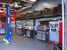 Garage Shop, Garage House, Car Garage, Garage Transformation, Mechanic Shop, Mechanic Garage, Garage Organization, Garage Storage, Garage Shelving