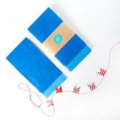 10 Flachbeutel / Geschenktüten Papiertüten - BLAU
