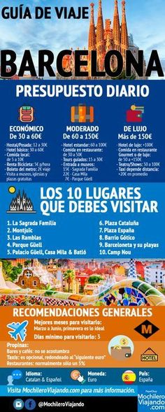 travel guide to Barcelona- guía de viaje a Barcelona travel guide to Barcelona - New Travel, Travel Goals, Spain Travel, Travel Packing, Thailand Travel, Travel Guides, Travel Tips, Places To Travel, Travel Destinations