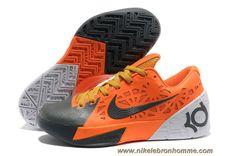 official photos 76393 acac7 Pas Cher Orange Gris Blanc Nike Zoom KD 6 Nike Kd Shoes, Kobe 9 Shoes