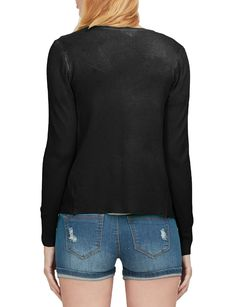 LE3NO Womens Soft Fitted Basic Cardigan Sweater | LE3NO Women's Cardigans, Cardigans For Women, Sweaters, Stylish Outfits, Sweater Cardigan, V Neck, Pullover, Fitness, Fabric