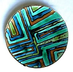 Poole-Pottery-8-Inch-Studio-Plate-Abstract-Design