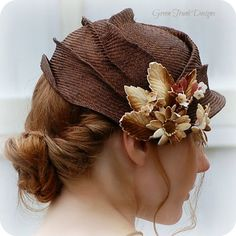 layered hat...very cute idea but with a brim!