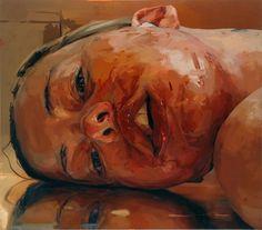 Jenny Saville, 'Reverse,' 2002-03, Gagosian Gallery Gouache, Jenny Saville Paintings, Portraits, Lucian Freud, Tate Britain, Gagosian Gallery, Oil On Canvas, Art Market, A Level Art
