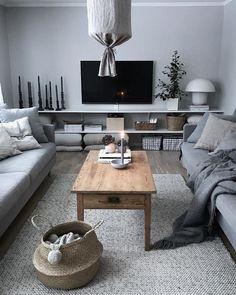 Tv-bänkslösning, kan kombinera med ved under denna! Living Room Decor Apartment, Room Interior, Apartment Living Room, Home Decor, Living Room Interior, House Interior, Room Decor, Apartment Inspiration, Home And Living