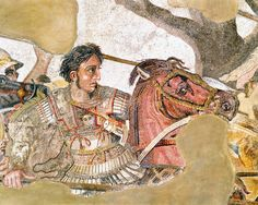 Detail of Alexander the Great from a mosaic.